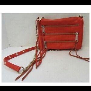 Rebecca Minkoff 3 zip cross body purse